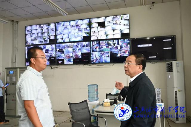 海南省教育厅领导率队到我院检查台风防御工作
